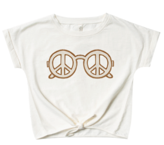RYLEE AND CRU Peace Knotted Tee