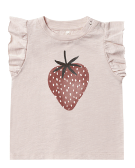 RYLEE AND CRU Strawberry Ruffled Tank