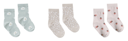 RYLEE AND CRU Printed Ankle Sock Set
