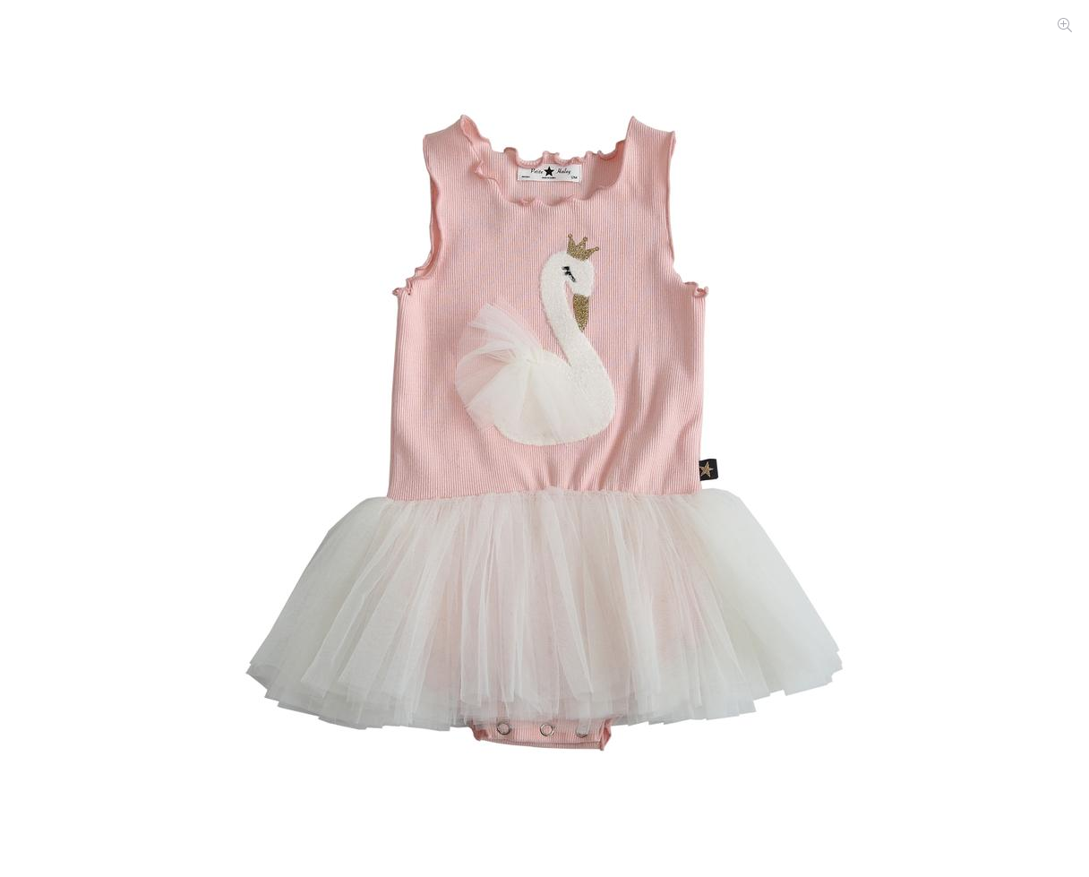 PETITE HAILEY Swan Baby Tutu Dress