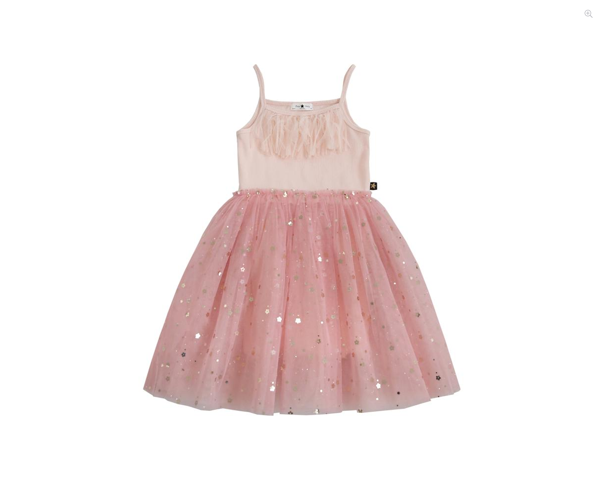 PETITE HAILEY Daisy Fringe Tutu Dress