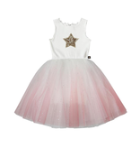 PETITE HAILEY Ombre Sparkle Star Tutu Dress