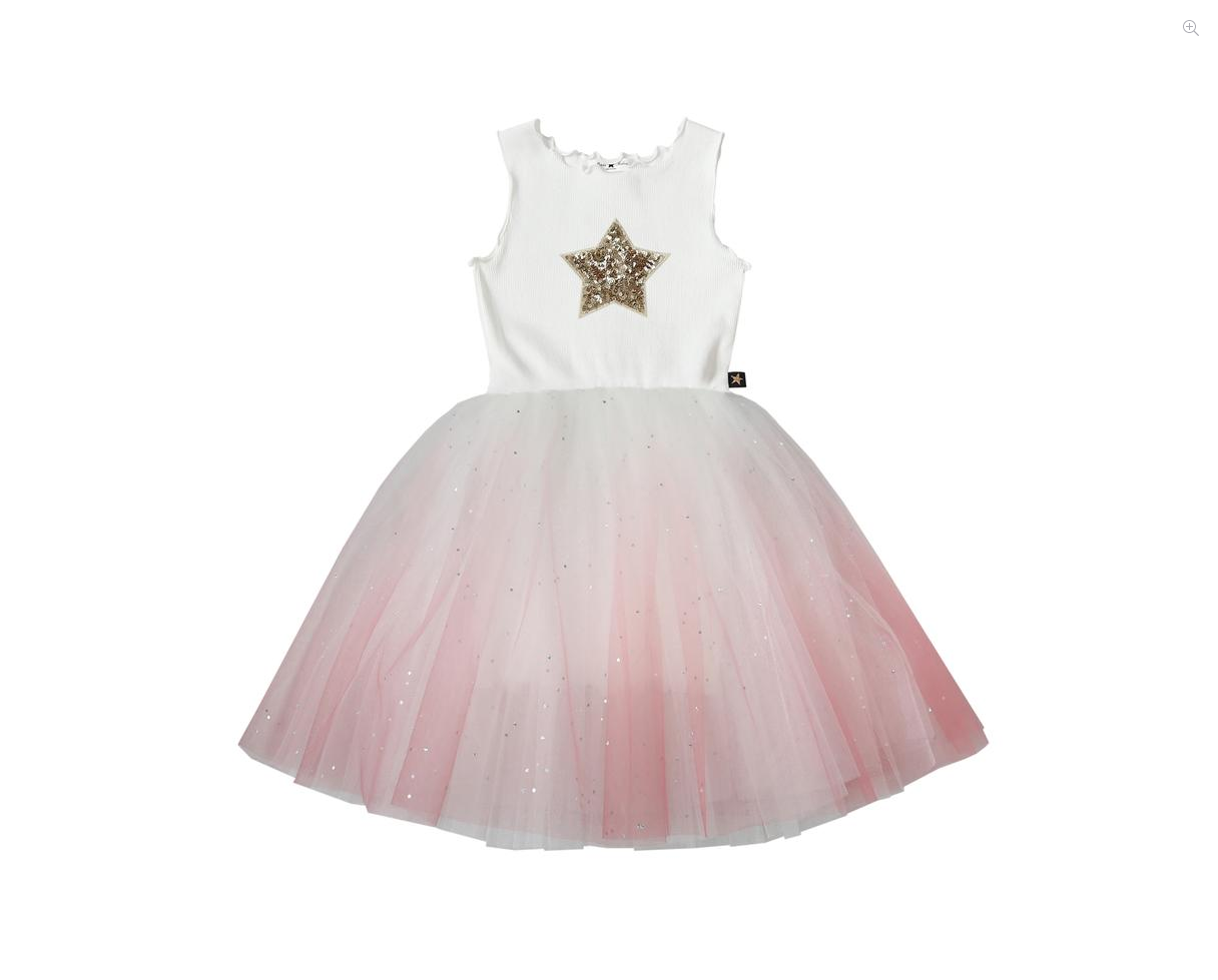 PETITE HAILEY Ombre Sparkle Star Tutu Dress