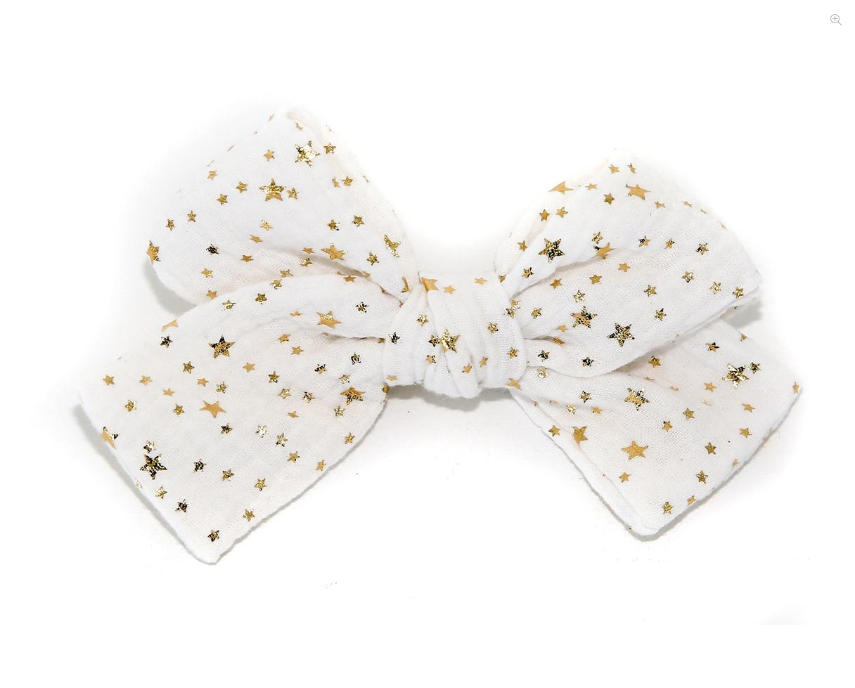 PETITE HAILEY White Big Bow Clip