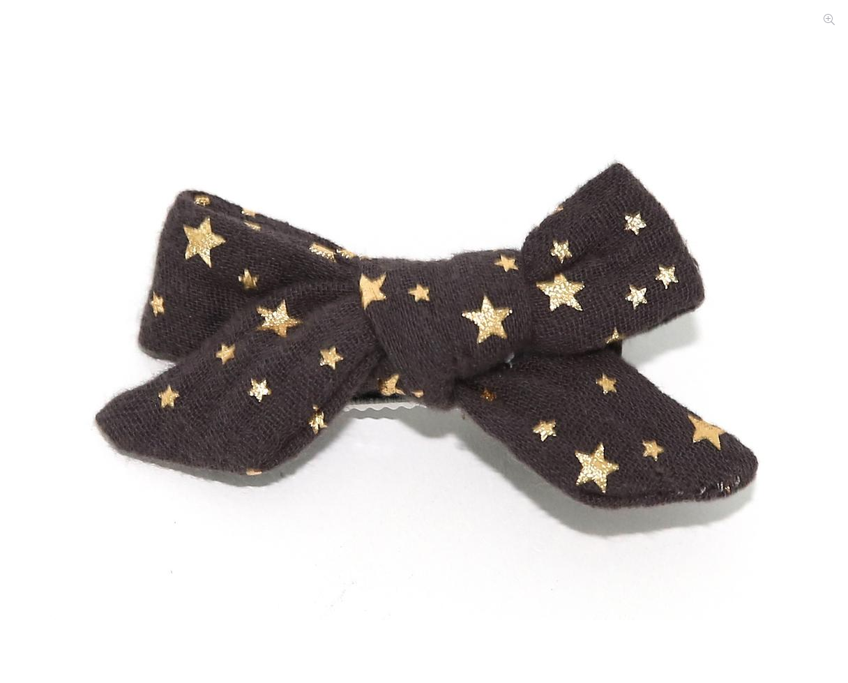 PETITE HAILEY Charcoal Small Bow Clip