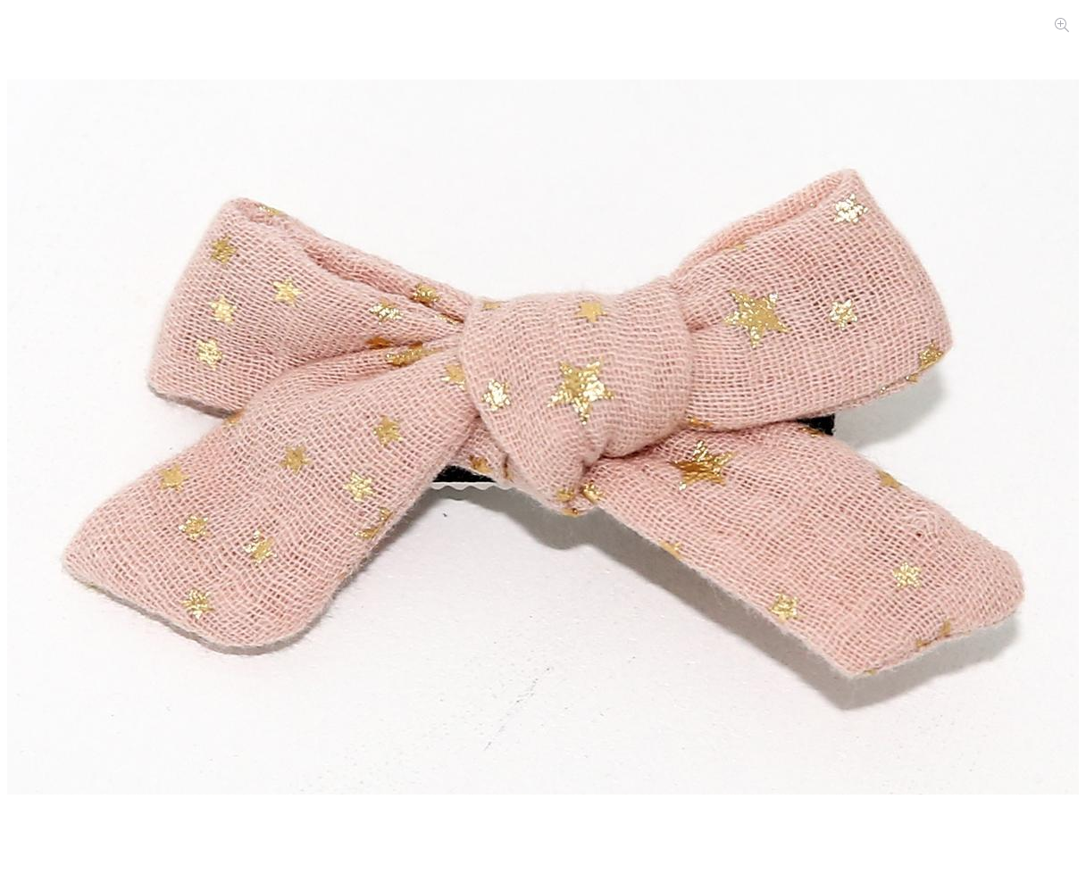 PETITE HAILEY Pink Small Bow Clip