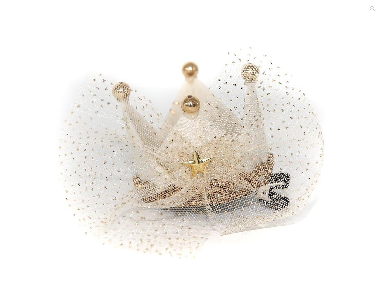 PETITE HAILEY Ivory Crown Hair Clip
