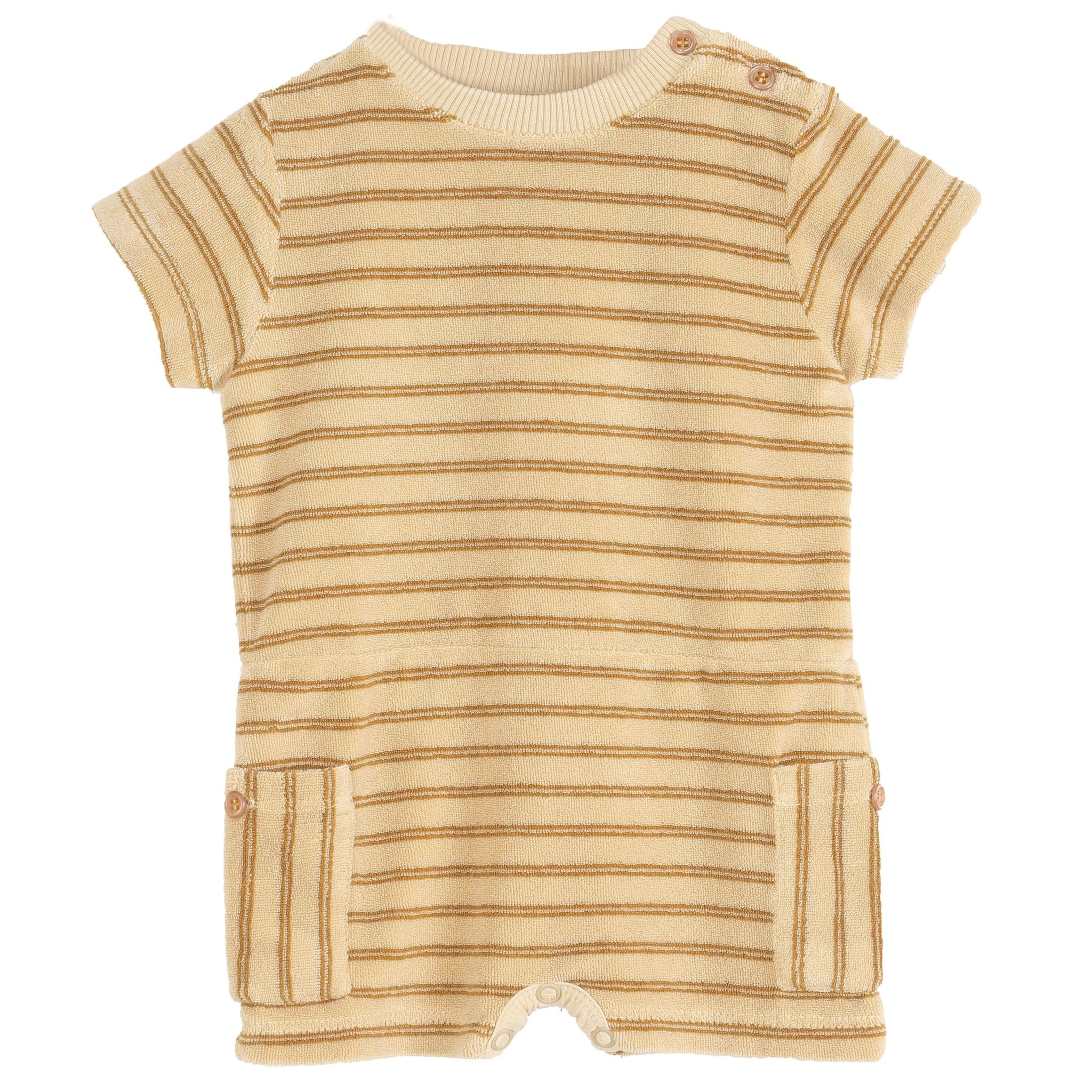 EMILIE ET IDA Striped Sponge Jumpsuit