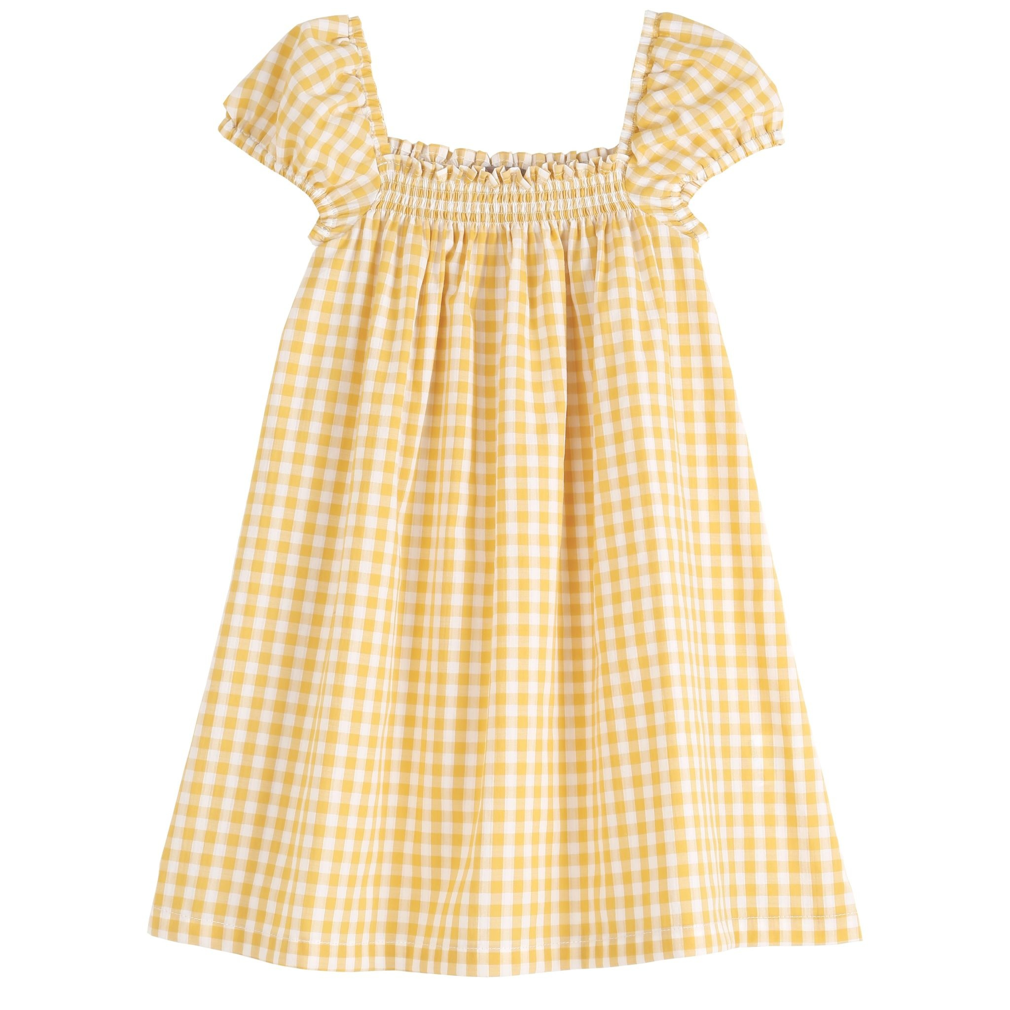 EMILIE ET IDA Yellow Gingham Dress