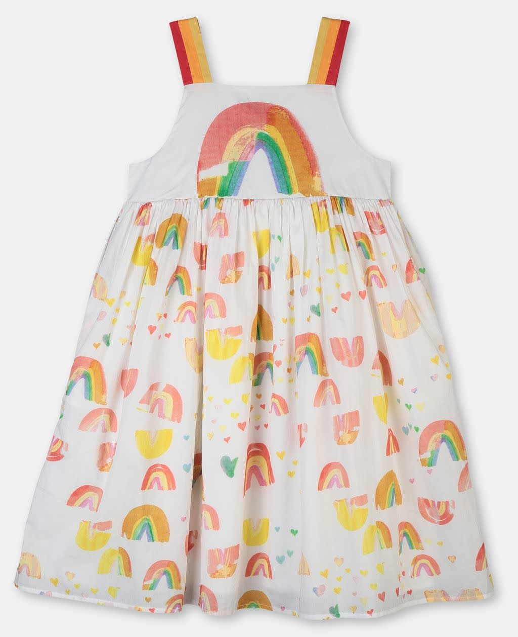 STELLA MCCARTNEY Painted Rainbow Dress