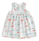 WINTER WATER FACTORY Hippos And Crocodiles Oslo Baby Dress
