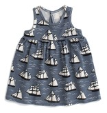 WINTER WATER FACTORY Vintage Sailboats Oslo Baby Dress