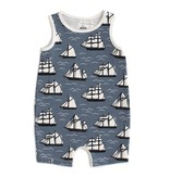 WINTER WATER FACTORY Vintage Sailboats Romper