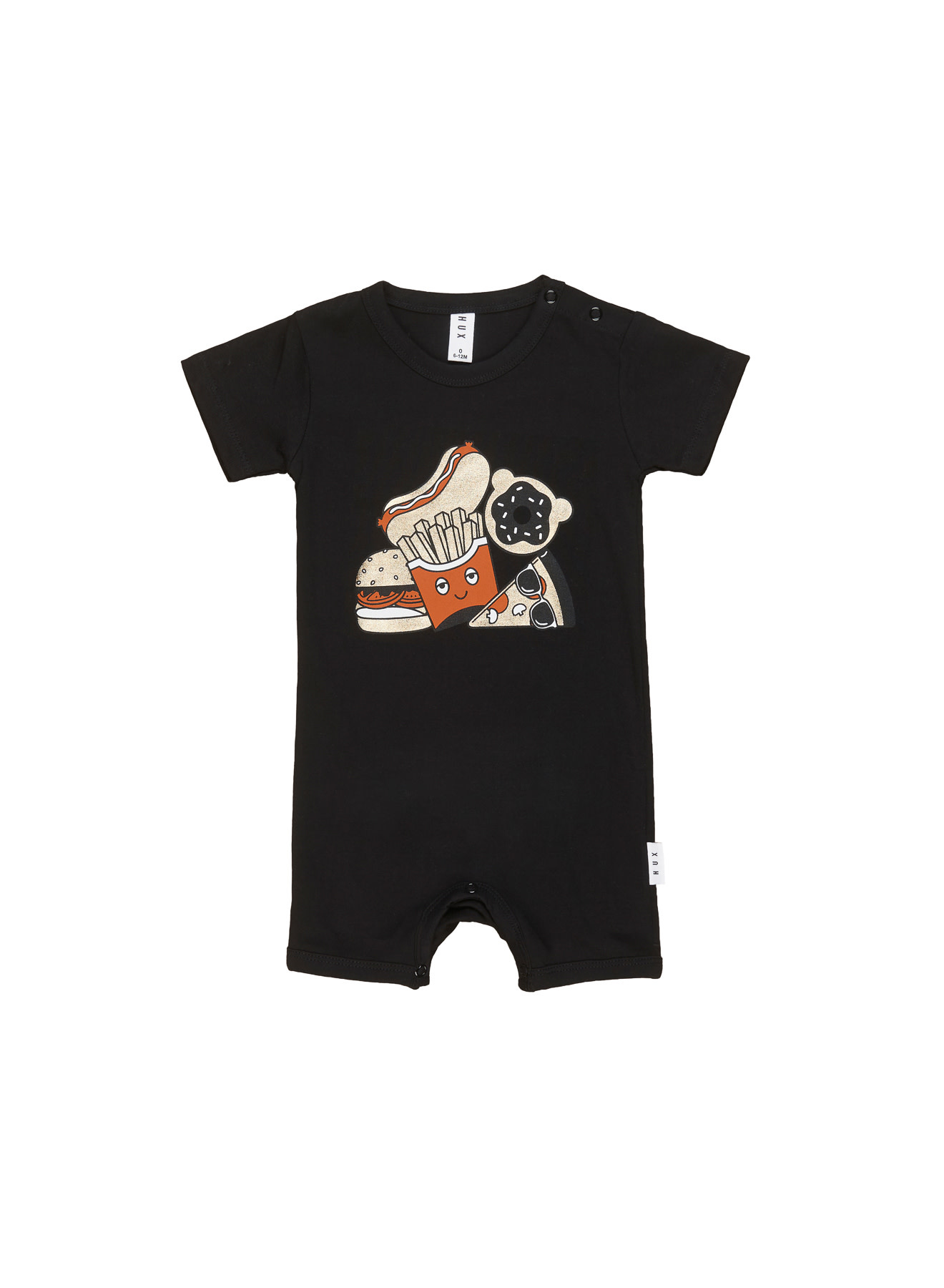 HUX BABY Gold Food Short Romper