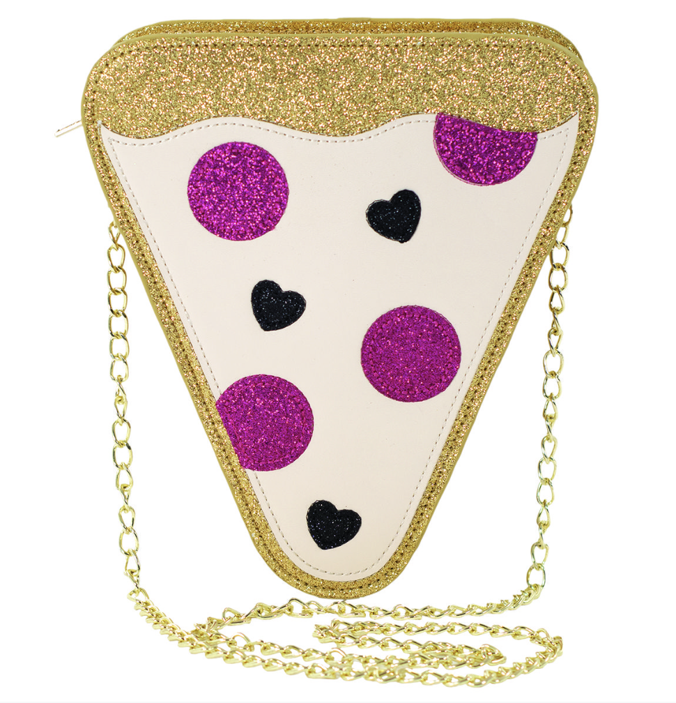 iscream Pizza Glitter Crossbody Bag
