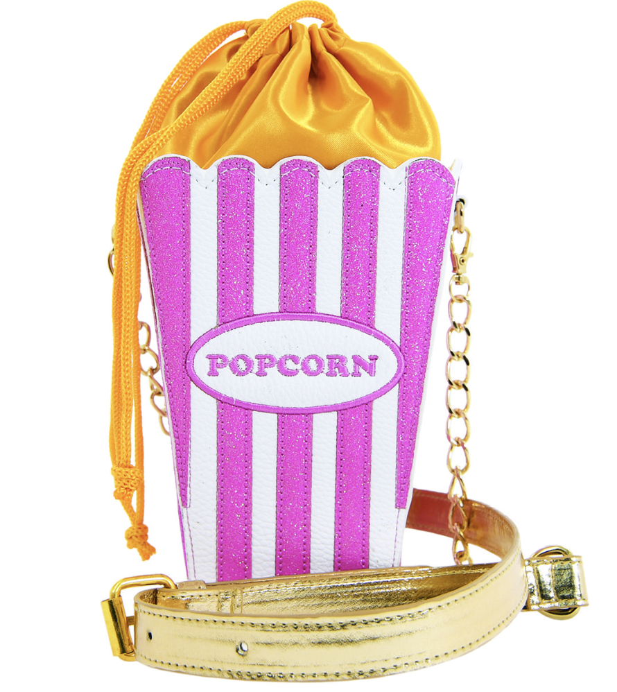 iscream Popcorn Glitter Crossbody Bag