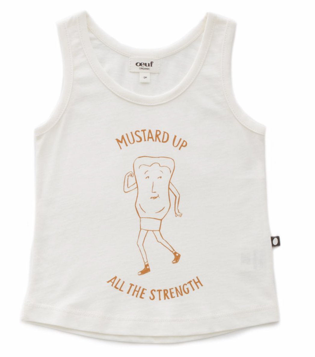 OEUF Mustard Up Tank Top