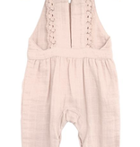 CITY MOUSE Muslin Lace Back Romper