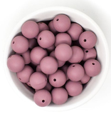 Three Hearts Mauve Round Sili Soother
