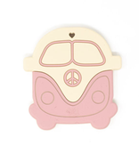 Three Hearts Dusty Rose VW Bus Silicone Teether