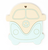 THREE HEARTS Mint VW Bus Silicone Teether