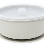 THREE HEARTS Taupe Silicone Bowl
