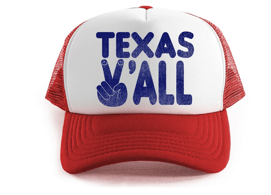 TINY WHALES Texas Y'all Hat