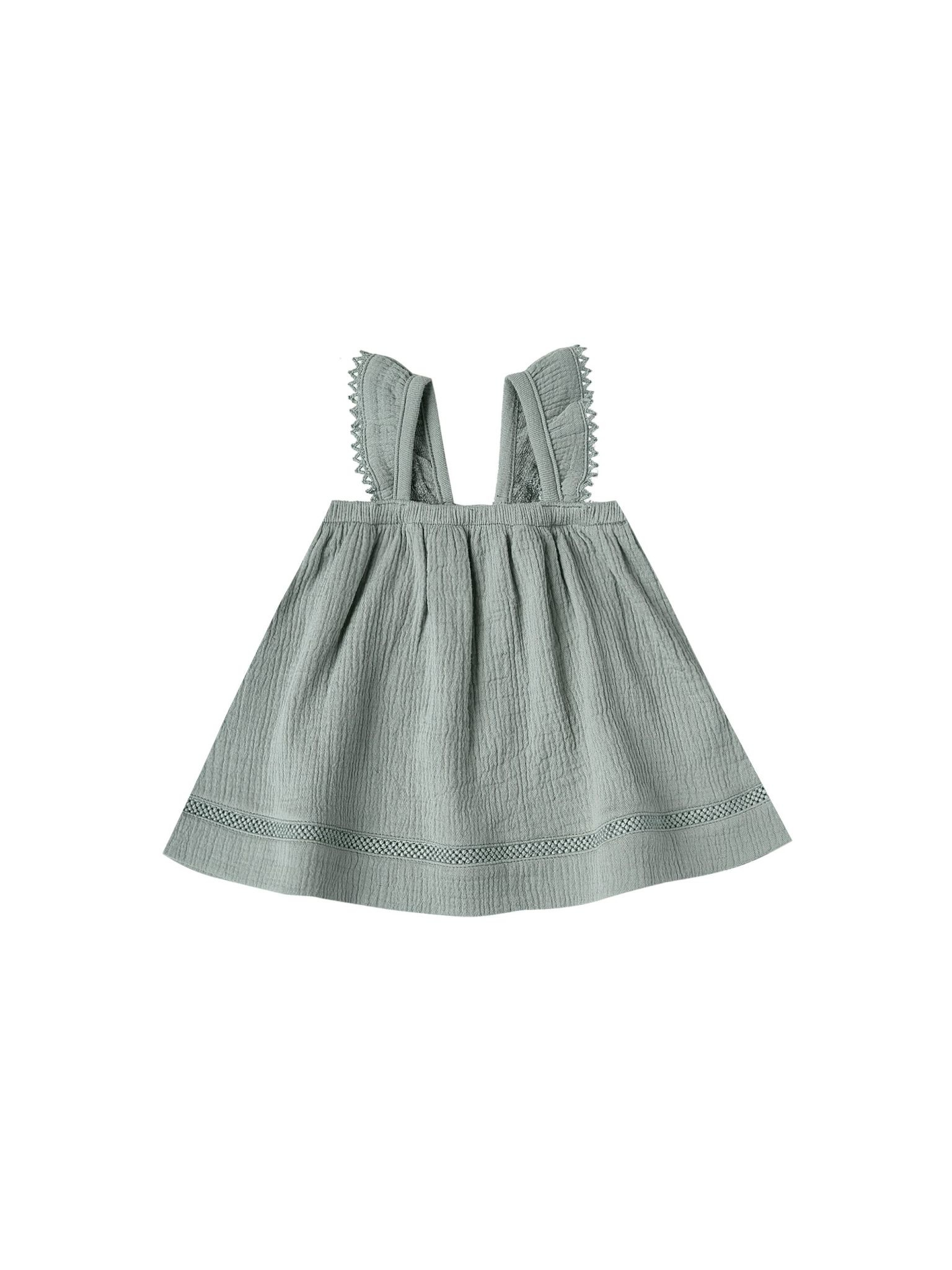 QUINCY MAE Organic Cotton Ruffled Tube Dress