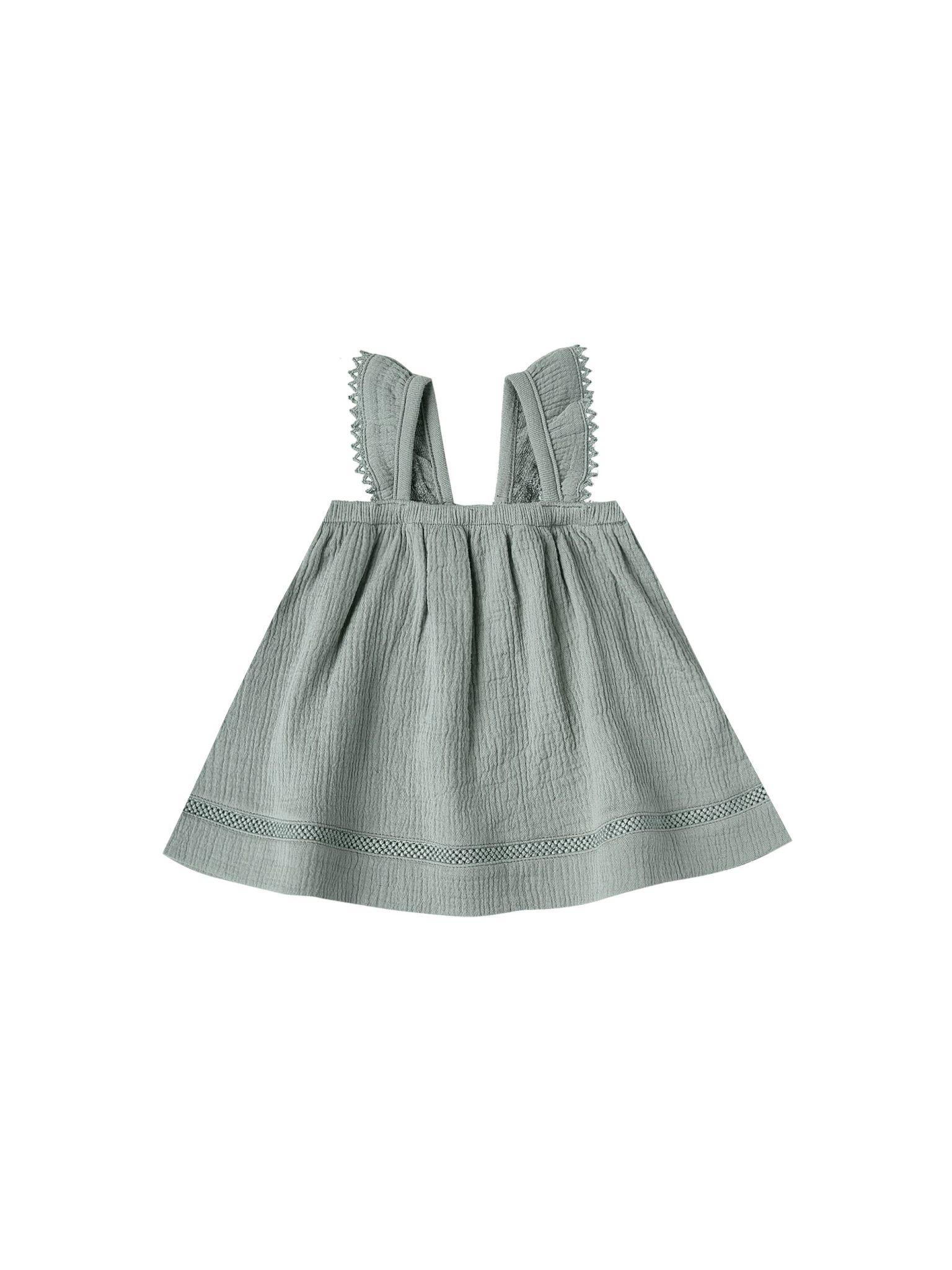 QUINCY MAE Organic Cotton Ruffled Tube Dress