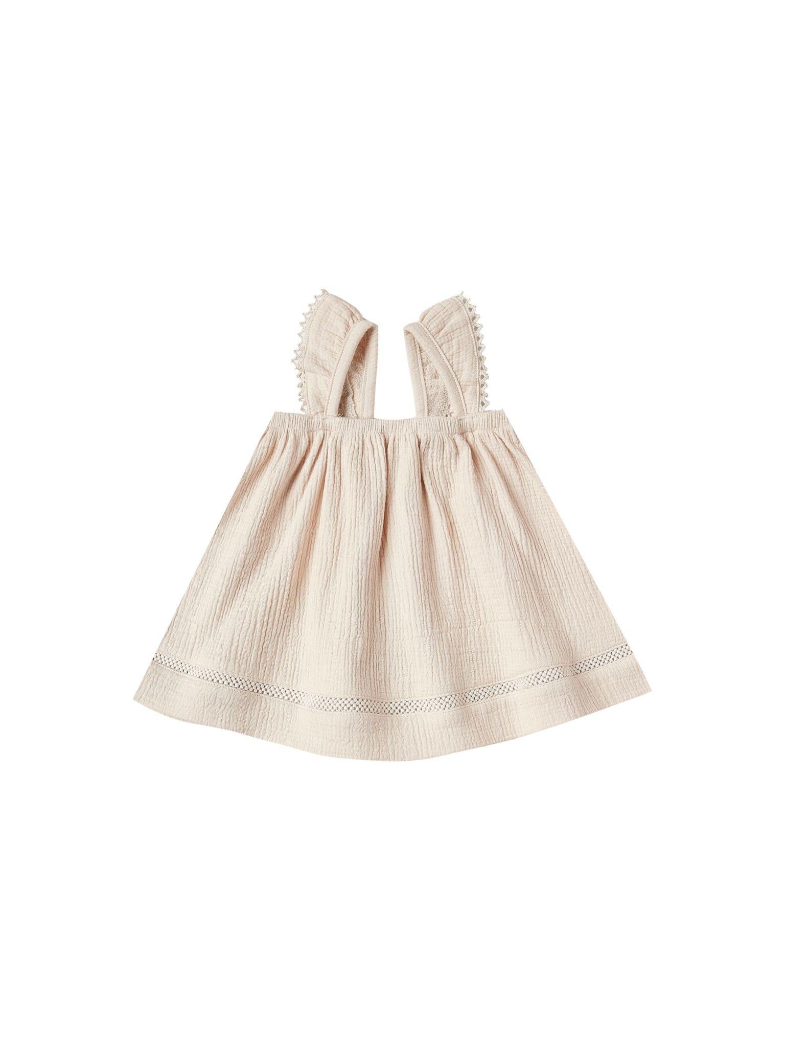 QUINCY MAE Organic Cotton Ruffle Tube Dress