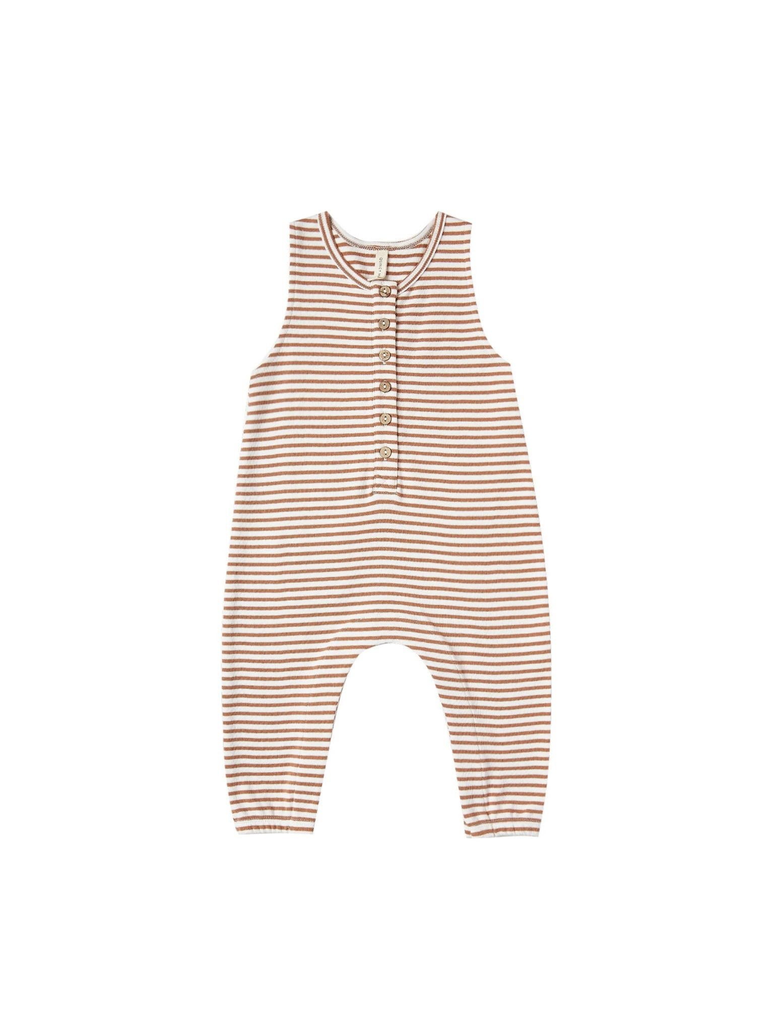 QUINCY MAE Organic Brushed Jersey Sleeveless Jumpsuit