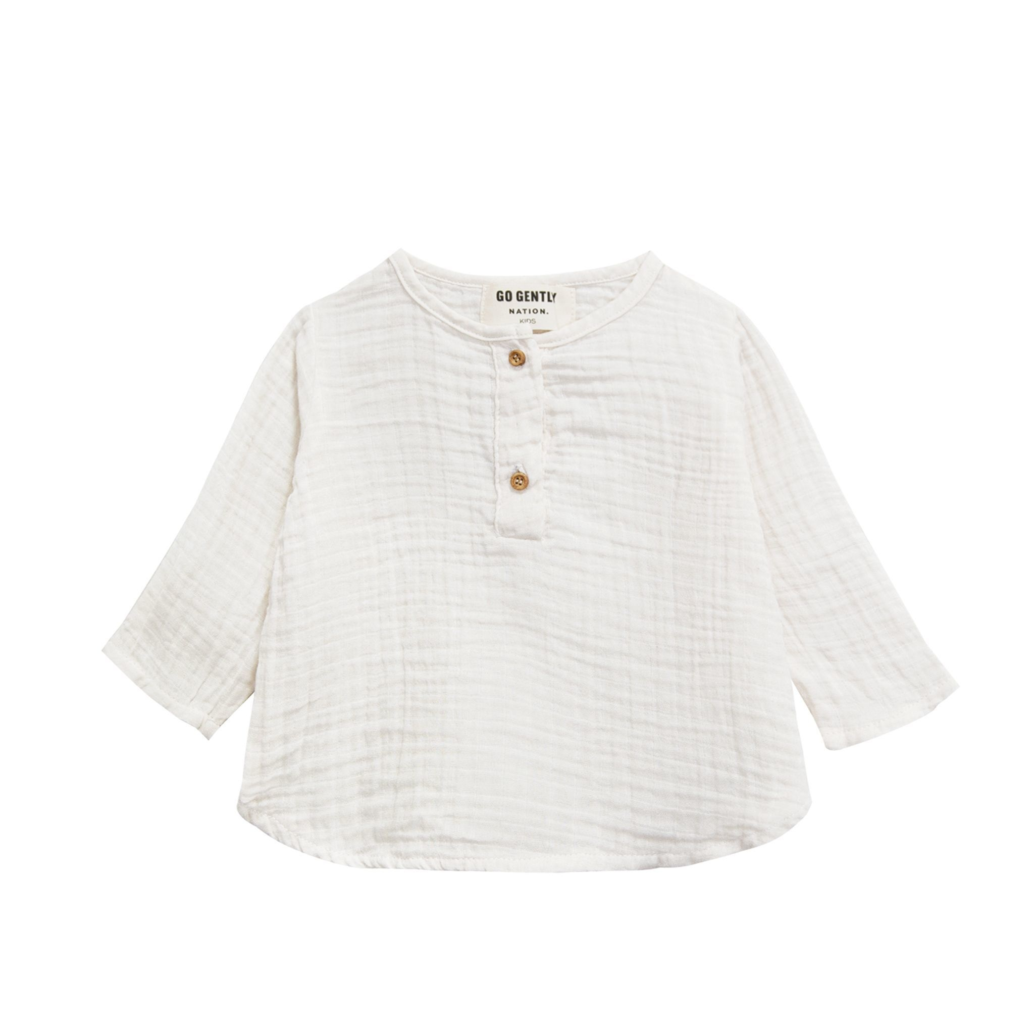 GOGENTLYNATION Gauze Placket Top