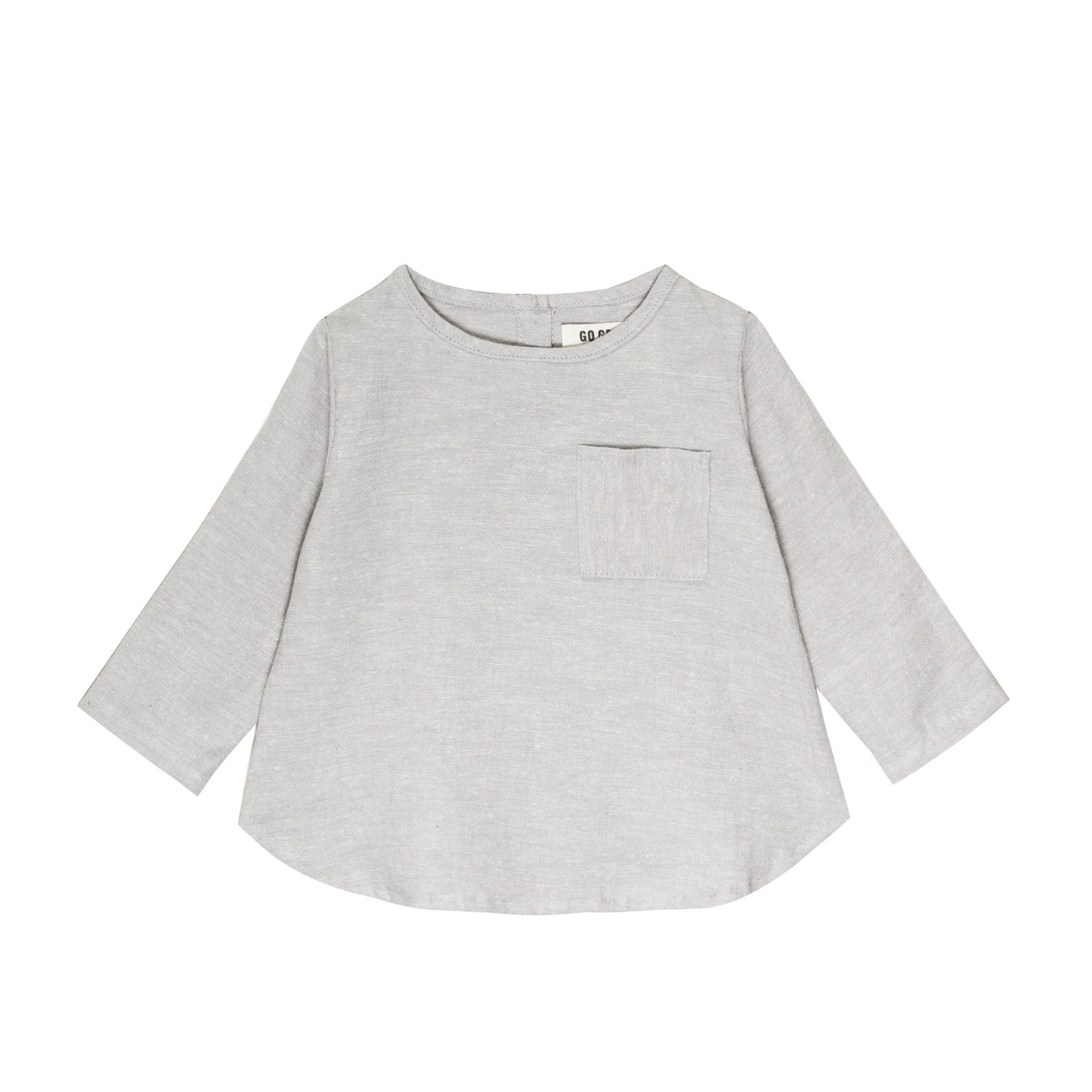 GOGENTLYNATION Long Sleeve Placket Top