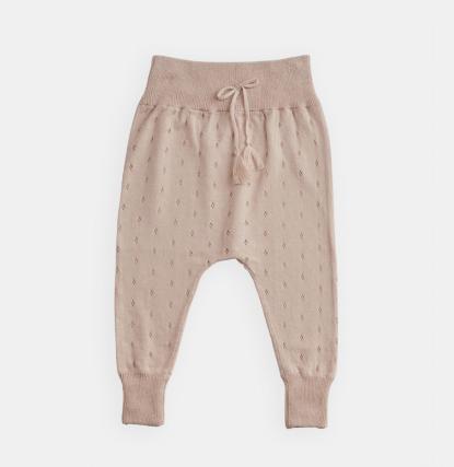 BELLE ENFANT Cotton Pointelle Leggings