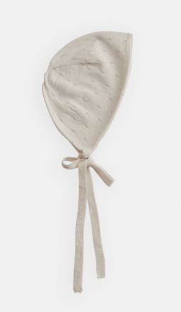 BELLE ENFANT Pointelle Cotton Bonnet