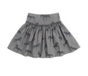STELLA MCCARTNEY Bleached Horses Chambray Skirt