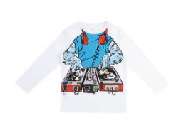 STELLA MCCARTNEY Longsleeve Monster DJ Tee