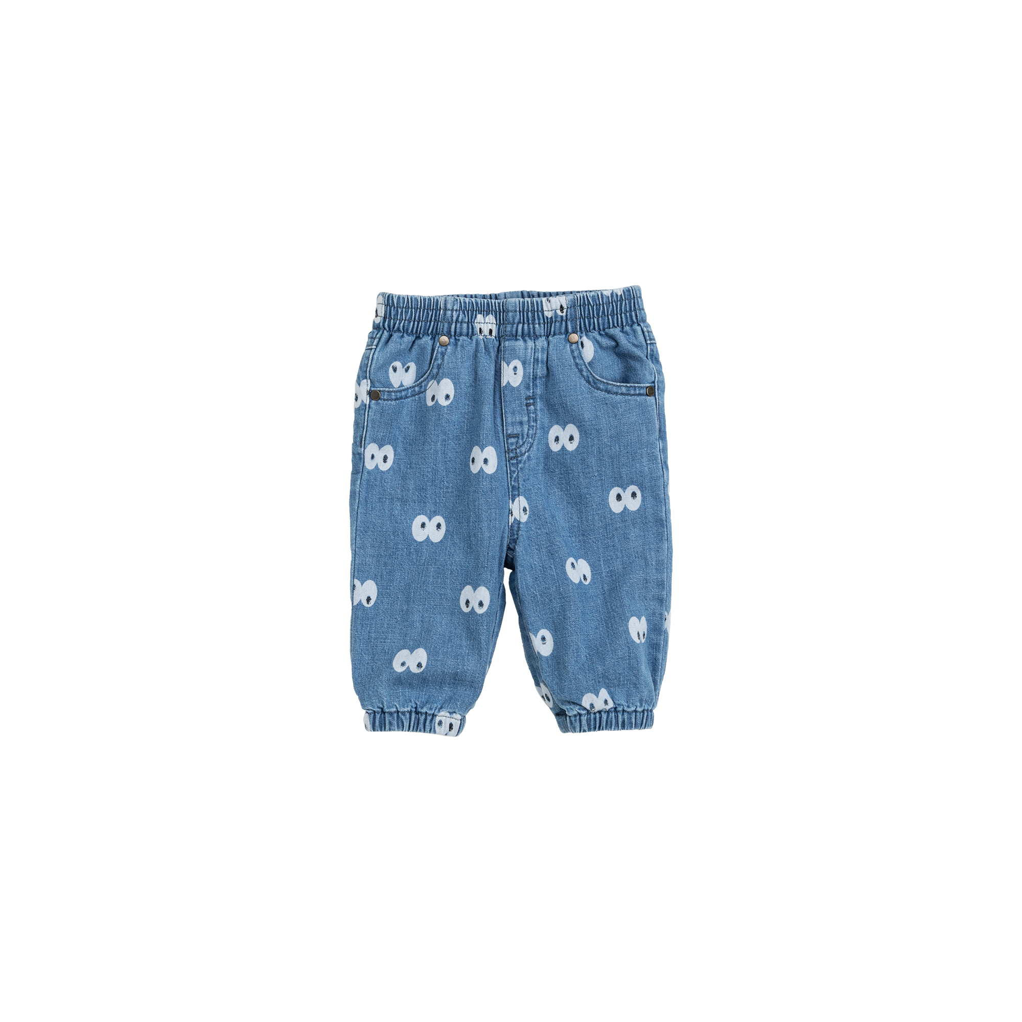 STELLA MCCARTNEY Cartoon Eyes Chambray Pants