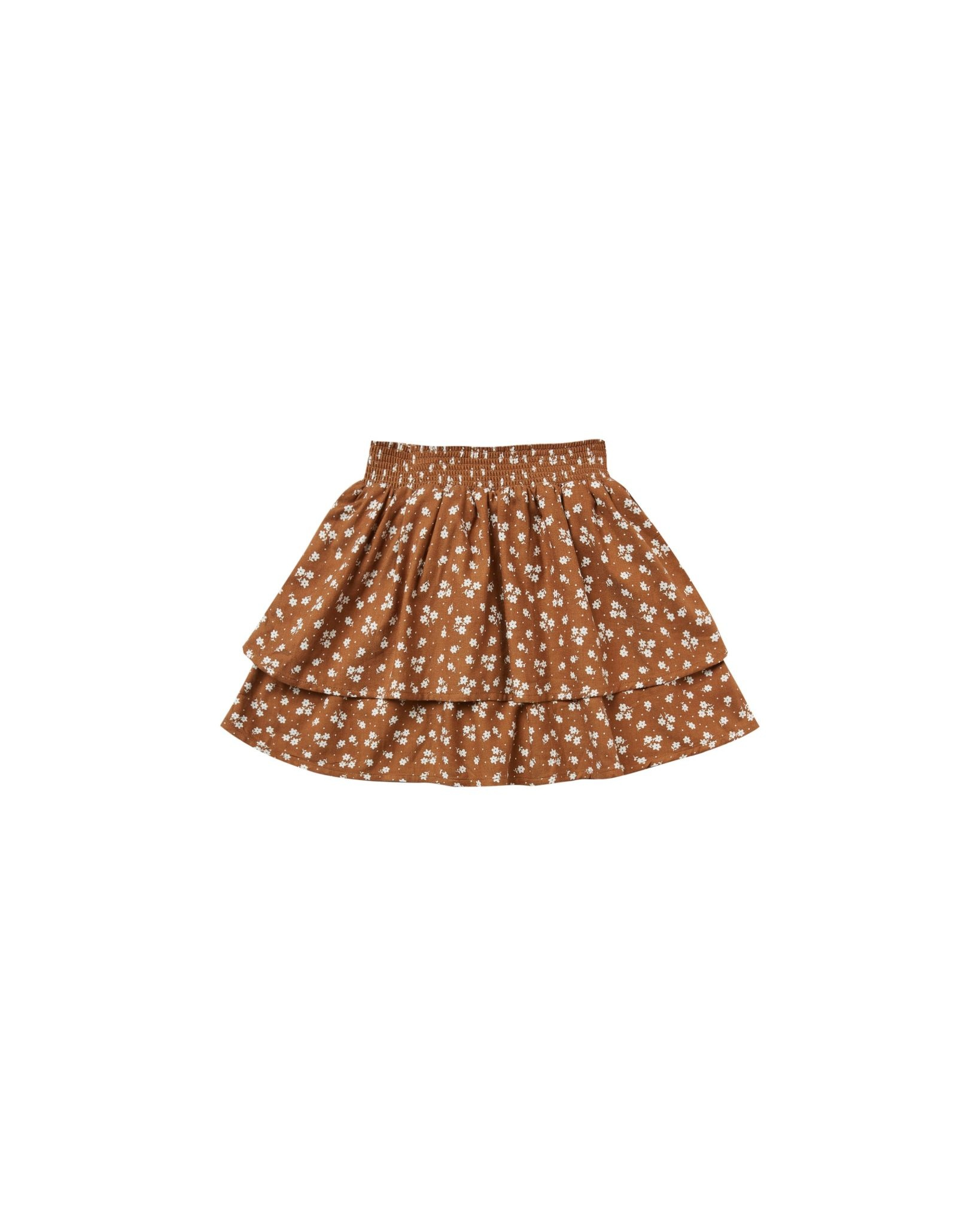 RYLEE AND CRU Ditsy Tiered Mini Skirt