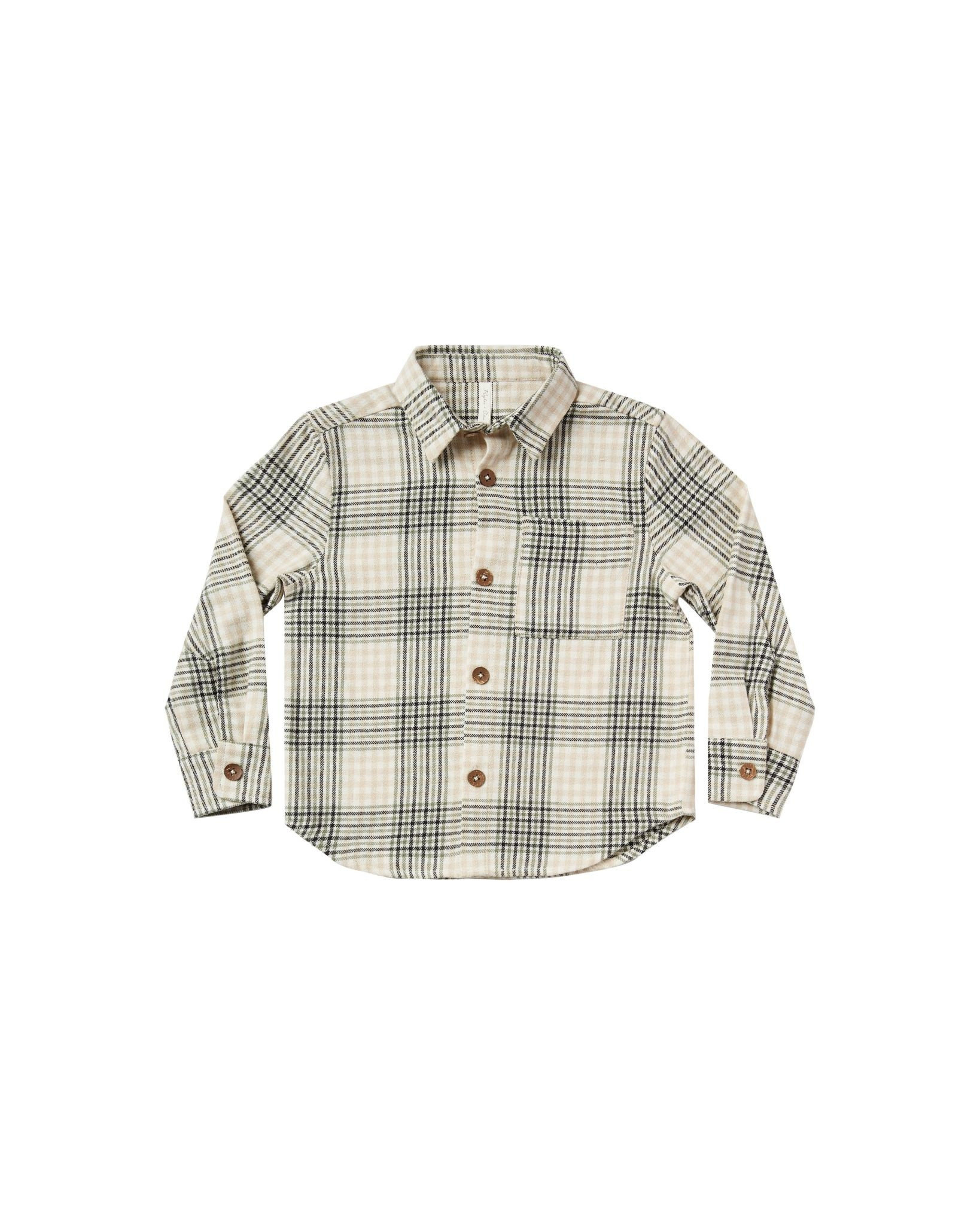 RYLEE AND CRU Flannel Collared Shirt