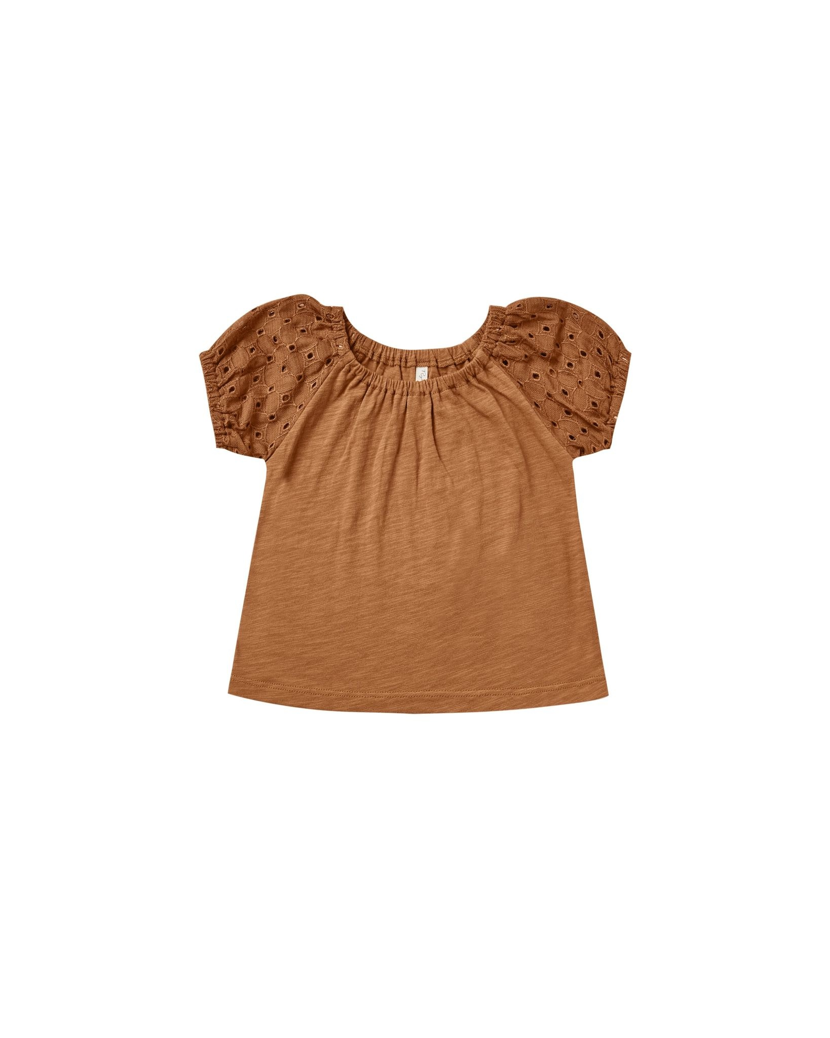 RYLEE AND CRU Baby Puff Sleeve Tee