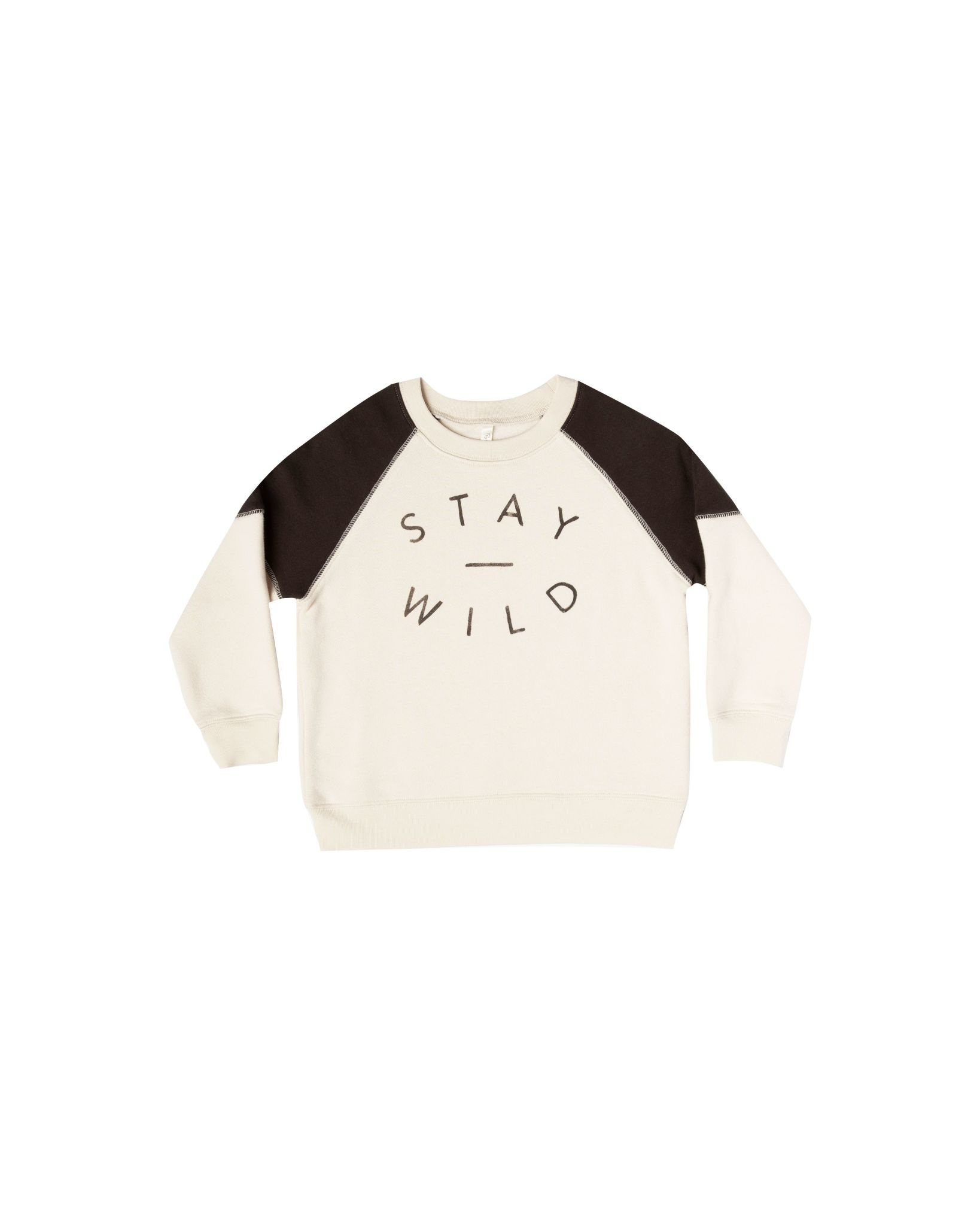 RYLEE AND CRU Stay Wild Raglan Sweatshirt