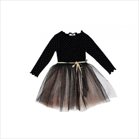 PETITE HAILEY Dot Sha Tutu Dress