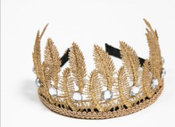 PETITE HAILEY Gold Leaf Crown Headband
