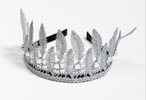 PETITE HAILEY Silver Leaf Crown Headband