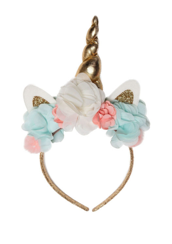 PETITE HAILEY Gold Unicorn Headband