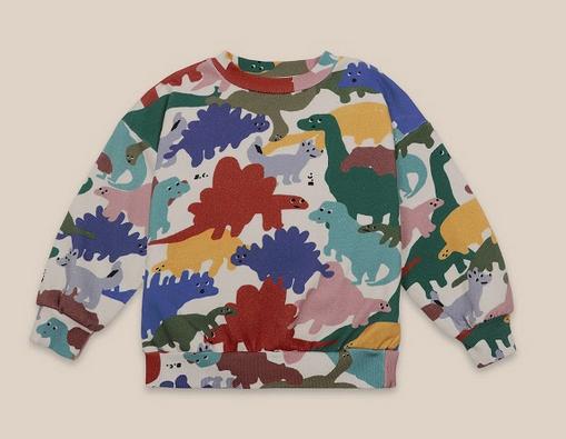 BOBO CHOSES Dinos All Over Sweatshirt