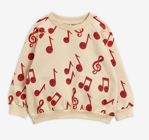MINI RODINI Notes Aop Sweatshirt