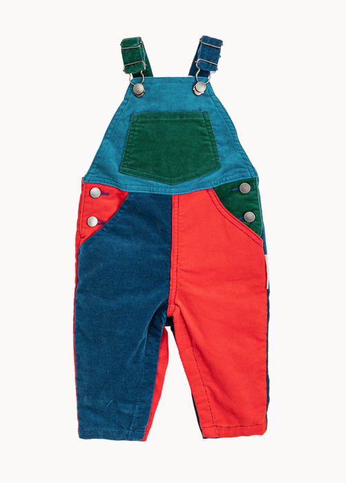 STELLA MCCARTNEY Baby Boy Corduroy Colorblock Dungaree