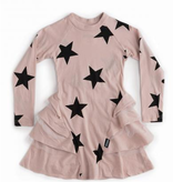 NUNUNU Star Multi Layered Dress